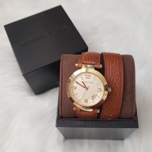 Michael Kors Wrap Around Leather Watch